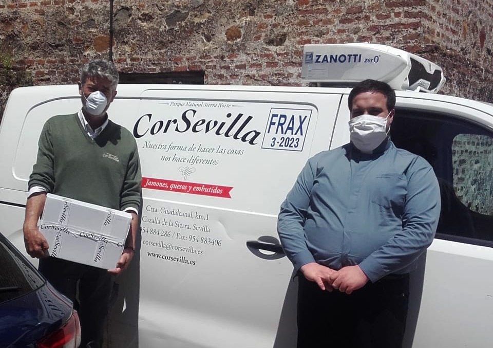 Donación - caritas Cazalla - Corsevilla