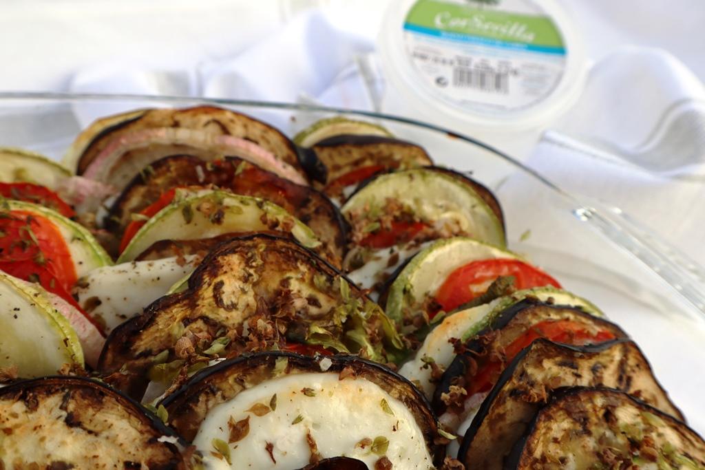 queso fresco y verduras