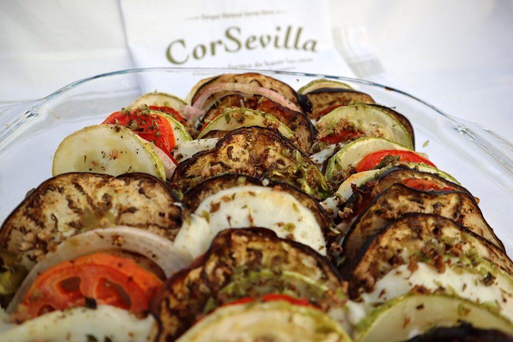 verduras con queso fresco Corsevilla