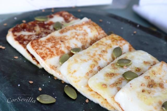 queso fresco a la plancha aliñado