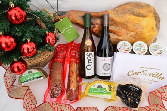 lote navidad paleta cebo ibericos, queso y vino